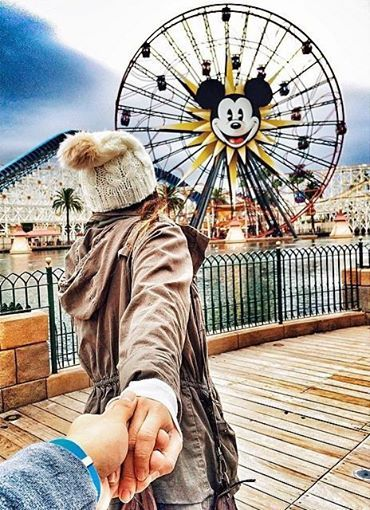 Follow me to California Disneyland. Murad Osmann