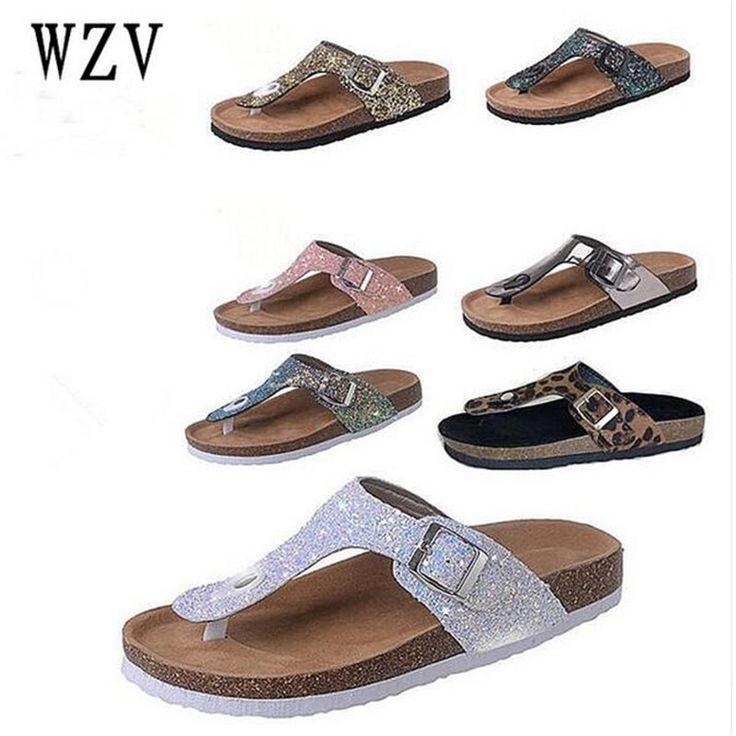 2018 Women Slippers Flip Flops thong Toe Sandals Glitter Slippers Sandals Platform Comfortable Summer Slippers Women Sandals