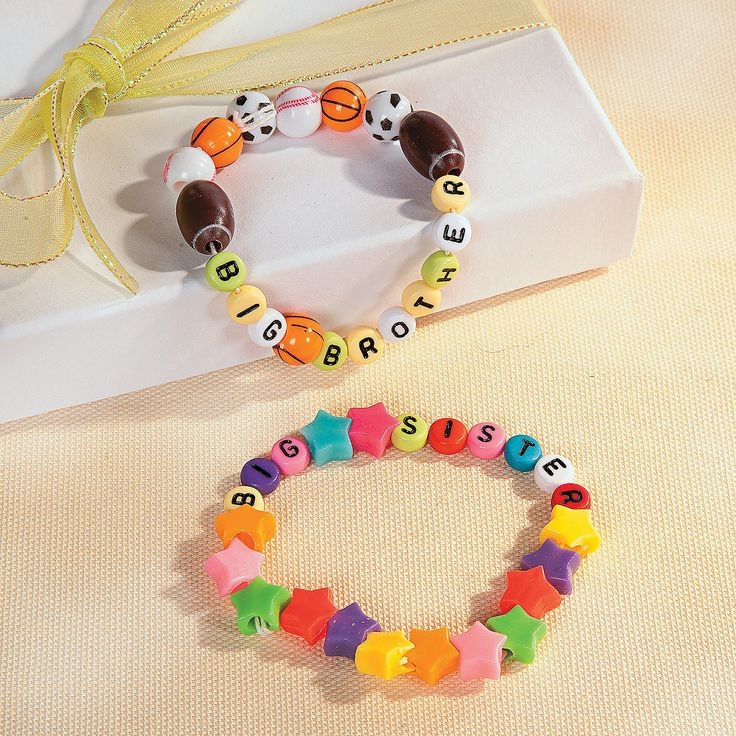 Big Brother & Big Sister Bracelets - OrientalTrading.com