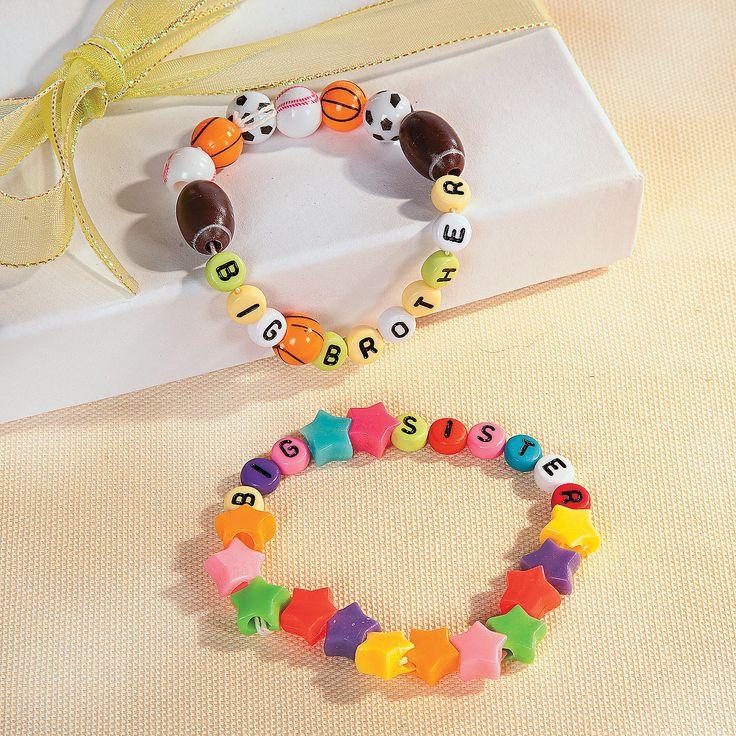 Big Brother & Big Sister Bracelets - OrientalTrading.com
