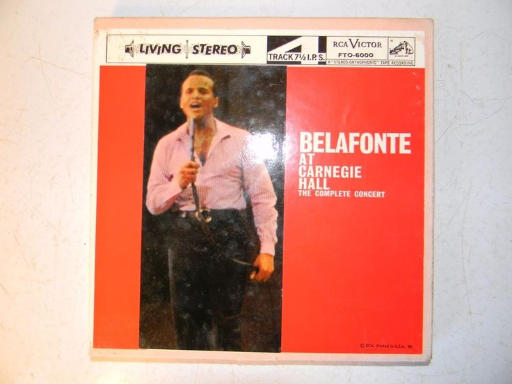 Belafonte At Carnegie Hall The Complete Concert Reel To Reel 4 Track 7.5 I.P.S
