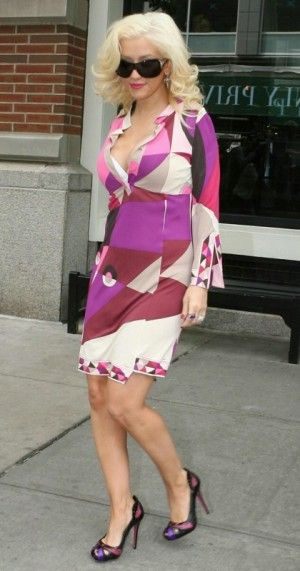 Christina Aguilera wearing Valentino 5446s Sunglasses. Christina Aguilera at a Downtown Hotel For Some Business in New York May 14 2008