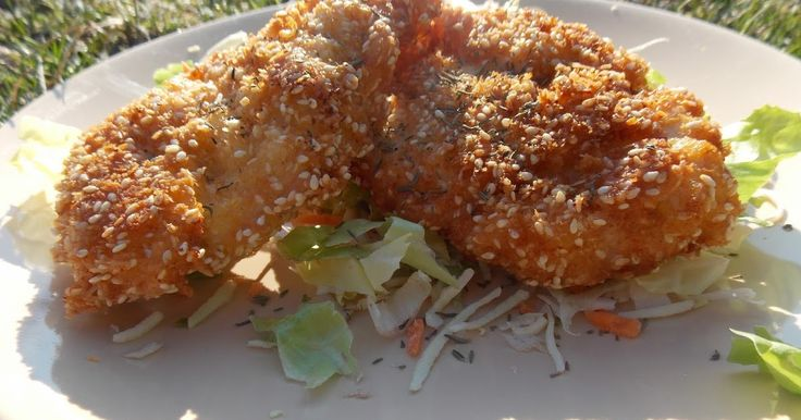 Szezámos-kókuszbundás csirke