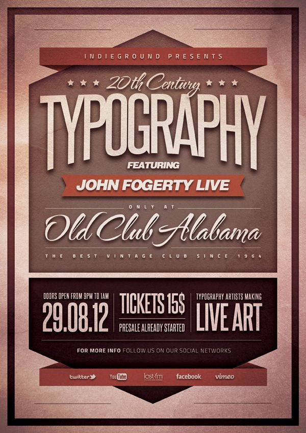 http://www.behance.net/gallery/Typography-Poster/5551607  Typography Poster by Roberto Perrino, via Behance