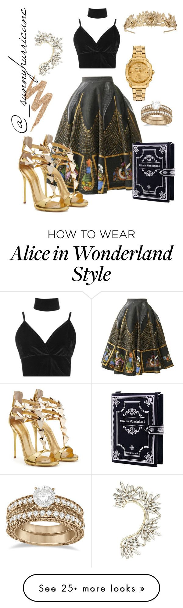 """""""Gold & Thangs"""" by sunnyhurricane on Polyvore featuring Boohoo, Allurez, BCBGMAXAZRIA and Urban Decay"""