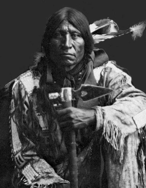 Comanche Warrior in Oklahoma and Texas area, no name or date