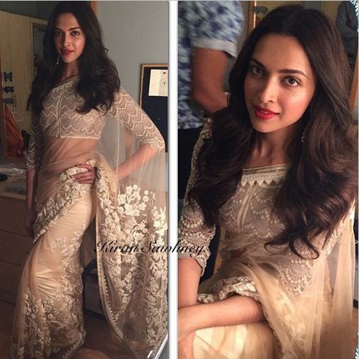 Top Indian fashion and lifestyle blog: Deepika Padukone loves Sabyasachi saris