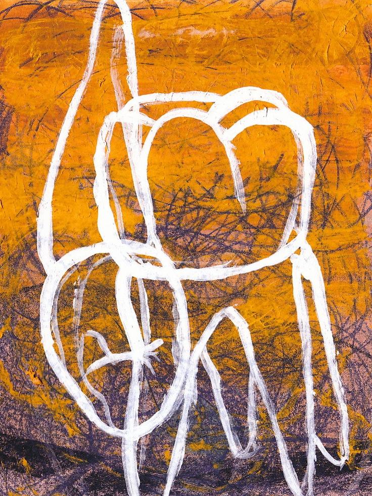 teeth-signed archival print abstract dental illustration. $15.00, via Etsy.