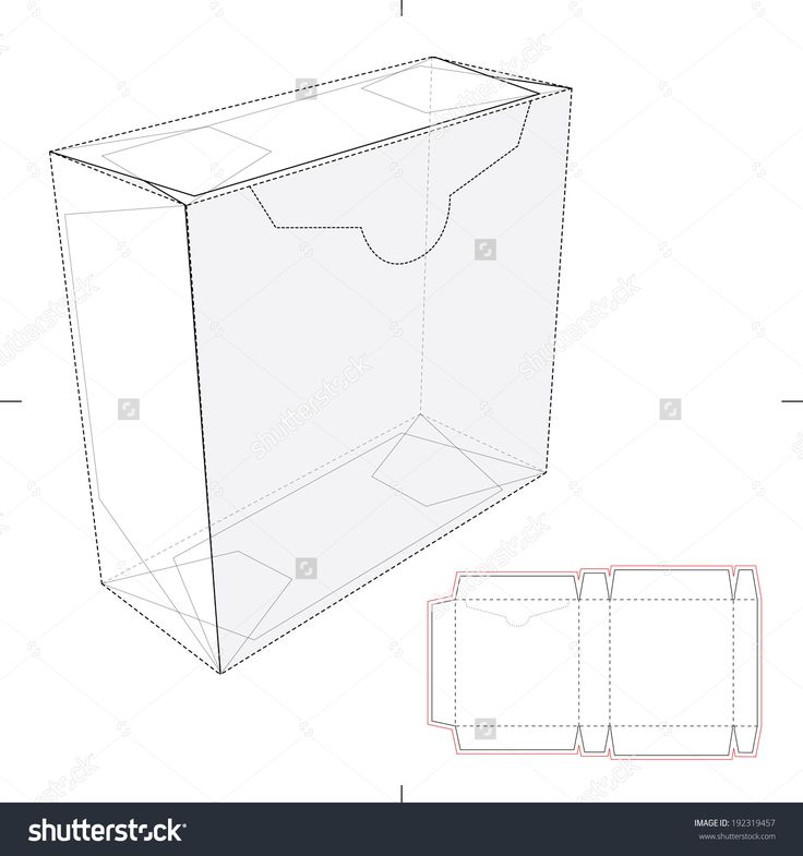 Tear Off Box With Die Cut Layout Stock Vector Illustration 192319457 : Shutterstock