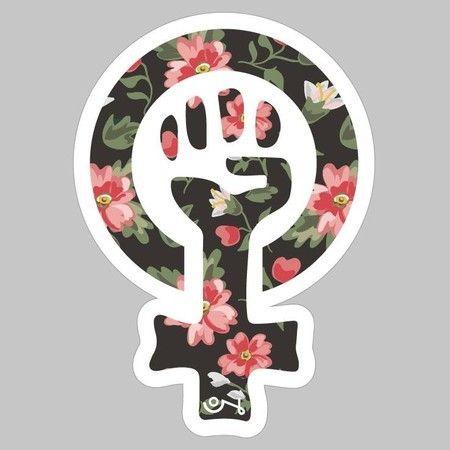 [adesivo] Símbolo Feminista Floral                                                                                                                                                                                 Más