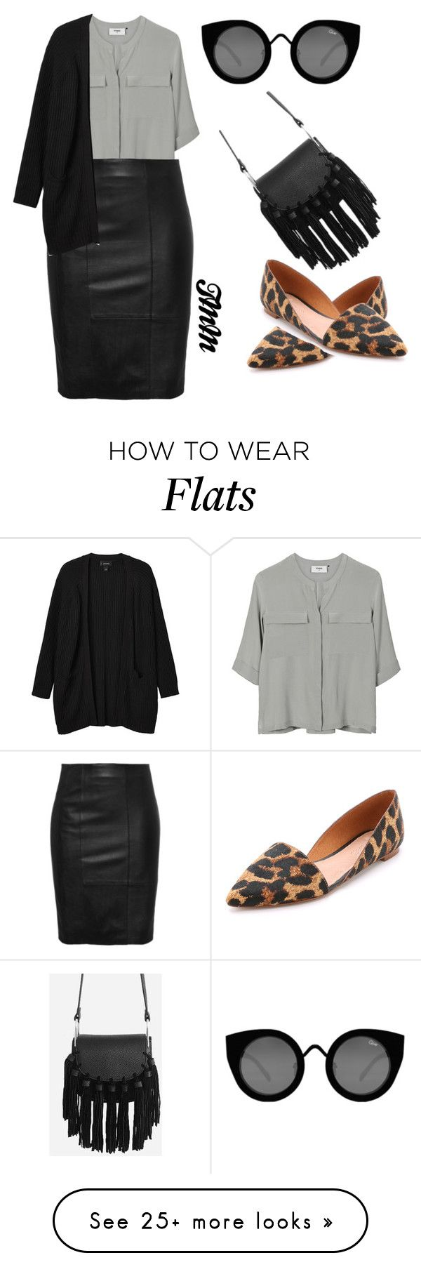 """""""Untitled #1468"""" by theblushingbeauty on Polyvore featuring Madewell, PYRUS, Quay and Monki"""
