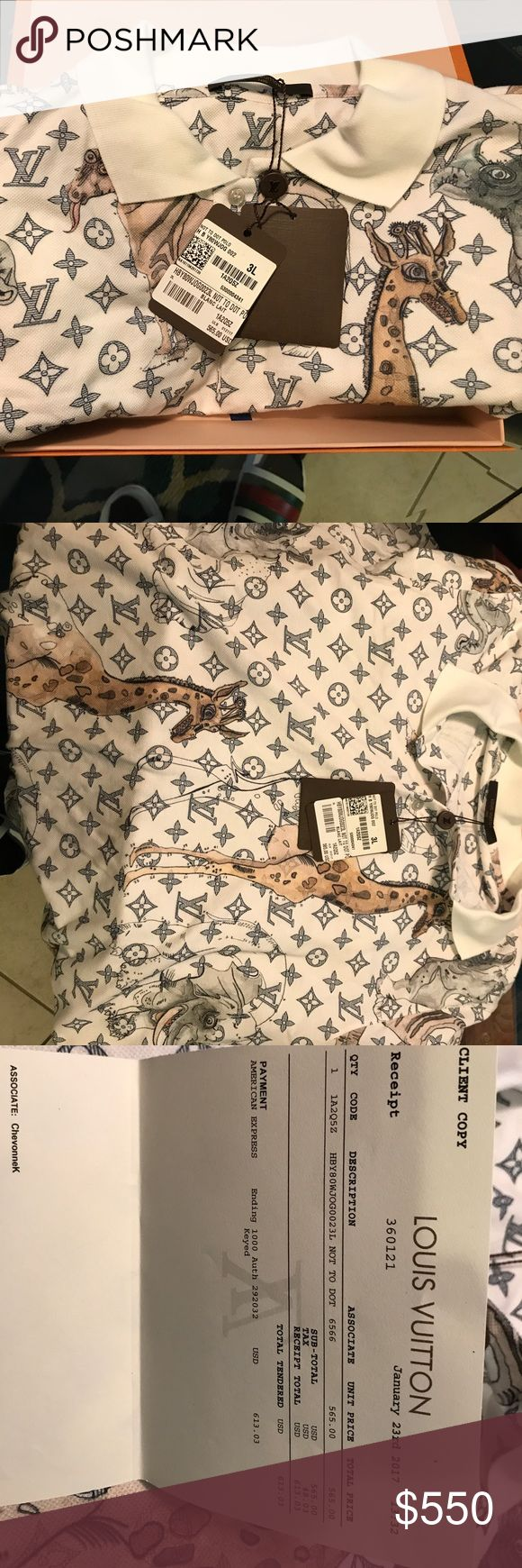 Louis Vuitton 3L men's shirt brand new with tag Brand new limit Louis Vuitton shirt In 3L Louis Vuitton Shirts Polos