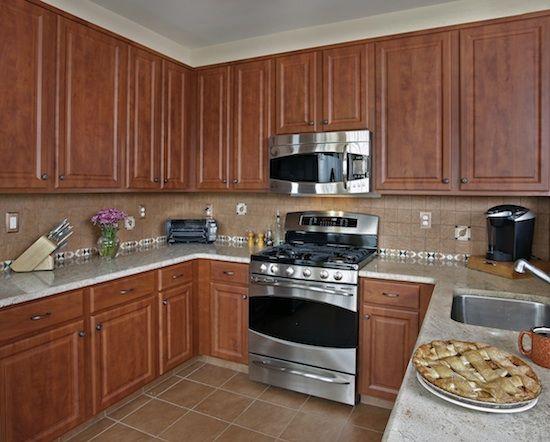 Amazing Dark Classic Cherry Cabinet Refacing