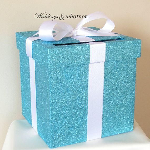 """Tiffany's Inspired Card Box 9""""w x 9""""h-Choose your colors"""