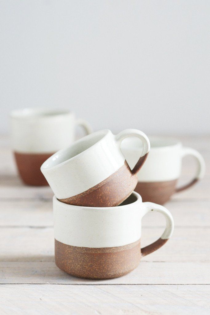 Dipped terracotta espresso mug: large    Decorator's Notebook  www.decoratorsnotebook.co.uk