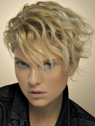 short textured and wavy