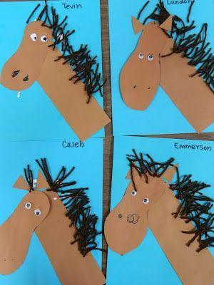 Onderwijs en zo voort ........: 2132. Knutselen : Paard van voetafdruk