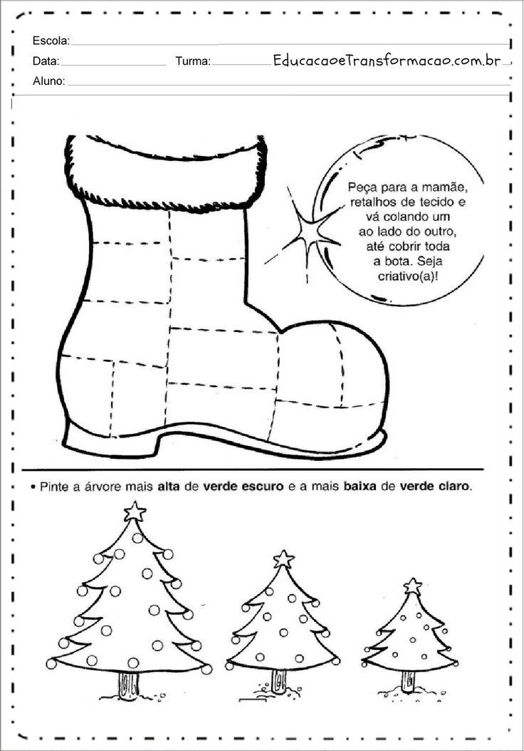 Atividades de Natal para imprimir - Atividades Educativas para imprimir