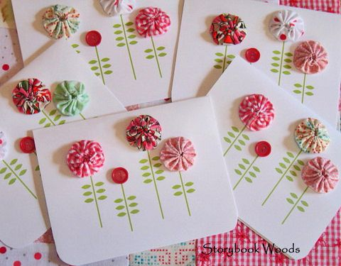 Fabric + Buttons + Stamps = LOVE