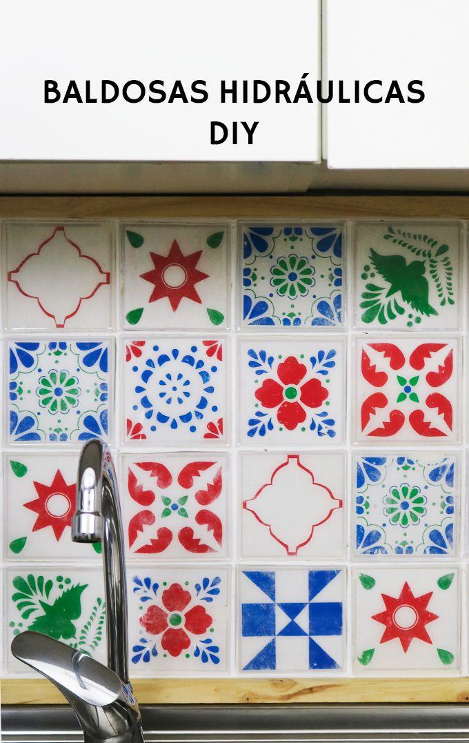 Tutorial baldosas o azulejos hidráulicos DIY