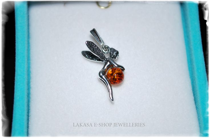 Fairy Silver 925 Pendant with Amber Jewelry Lakasa e-shop Jewelleries Info: design.lakasa@gmail.com https://lakasaeshop.wordpress.com/