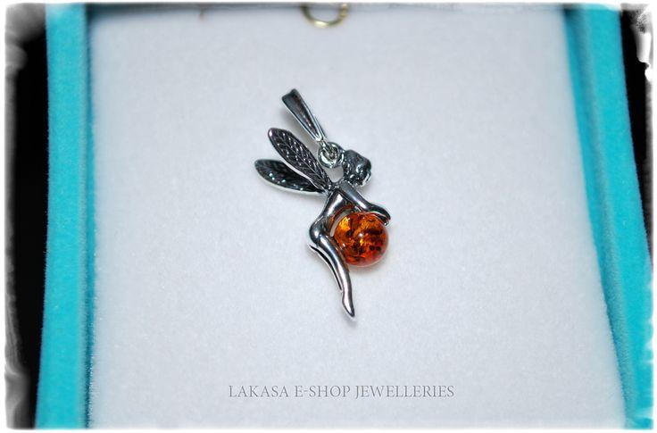 Fairy Silver 925 Pendant with Amber Jewelry Lakasa e-shop Jewelleries Info: design.lakasa@gmail.com https://lakasaeshop.wordpress.com/