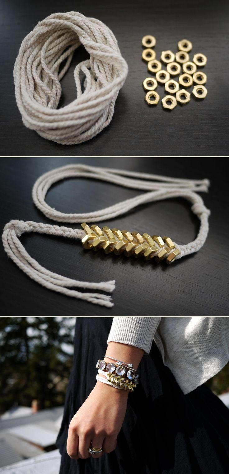 man one nut out DIY Braided Hex Nut Bracelet