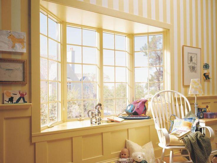 Bay Window Curtain Pole Antique Brass   Beautiful And Elegant Bay Window  Curtains