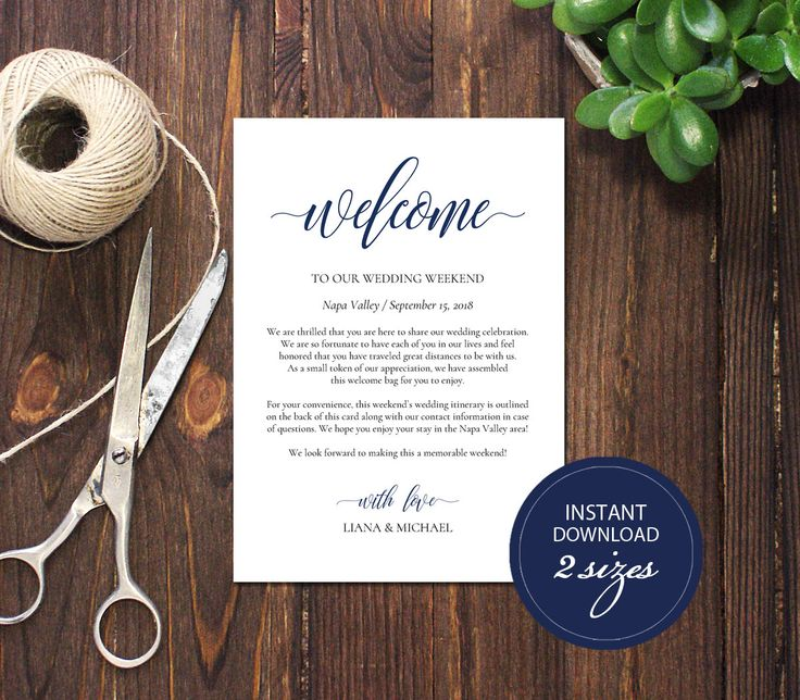 Editable PDF Wedding Itinerary Card Welcome Bag Note Calligraphic Welcome Letter Template Instant download Printable card Navy Blue#DP120_40 by DreamPrintable on Etsy #wedding #instant #download #printable #image #graphic #digital #reception_sign #PDF #Template #wedding_ceremony #wedding_sign #Calligraphy #Sign #events #events_design #wedding_printable #wedding_design