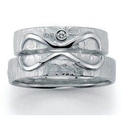 Set Trouwringen zilver Signs of Love Infinity