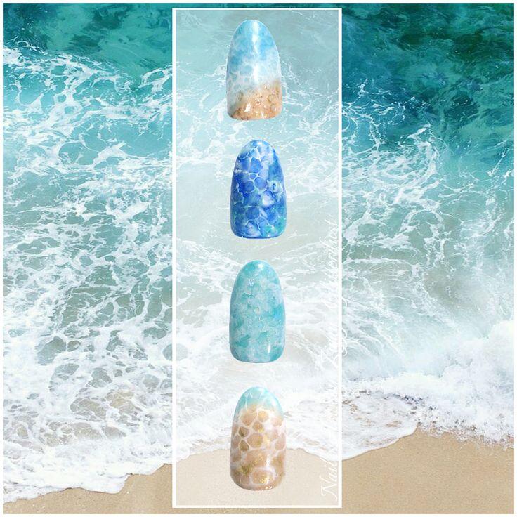 Sea nail art by Ziggy Glitterdust