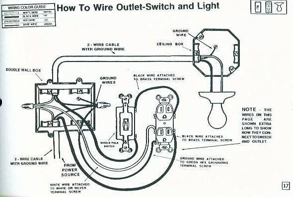 how to wire outlet switch and light