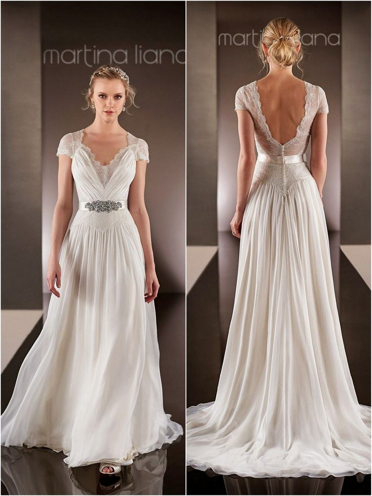 Perfect for a beach or boho wedding! Martina Liana Wedding Dresses | 2015 Wedding Dresses » KnotsVilla