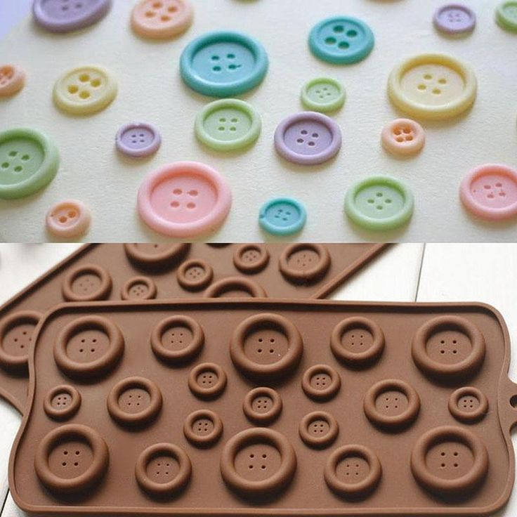 1X DIY Button Shaped Chocolate Fondant Mold Silicone Mould Cake Decor Tool Cute -- BuyinCoins.com
