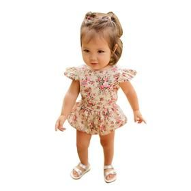 BABY GIRL ROMPERS FLOWER JUMPSUITS