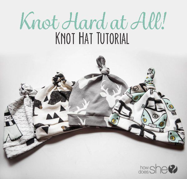 Knot Hard at All! Knot Hat Tutorial - 0-3 Months