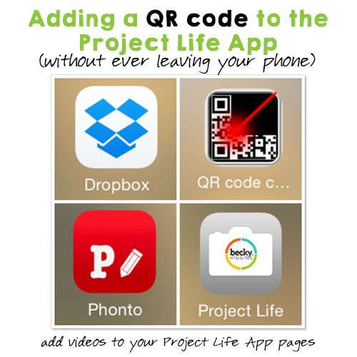 Adding a QR Code to a Layout in the Project Life App (without ever leaving your phone)