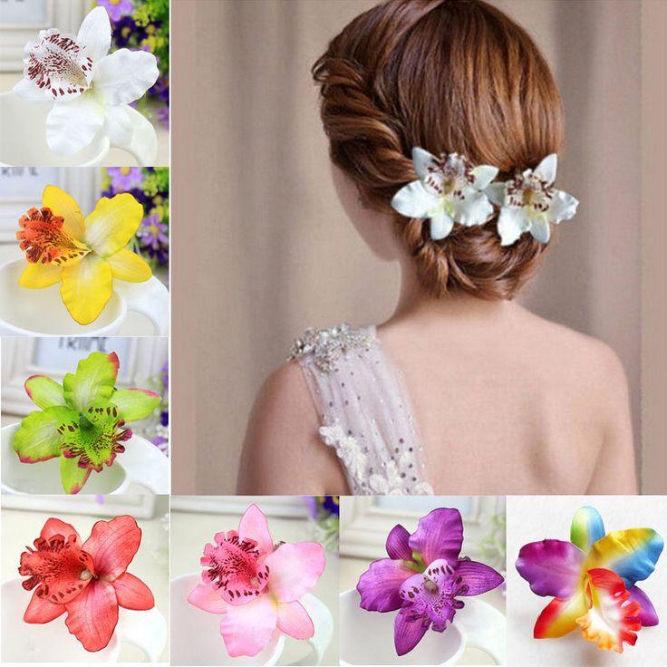 Купить 1 шт. люкс свадебное цветок орхидеи зажим для барретт женщины девушки заколка для волос группы аксессуары 10 цветови другие товары категории Аксессуары для волосв магазине Susan's HouseнаAliExpress. Аксессуары для волос