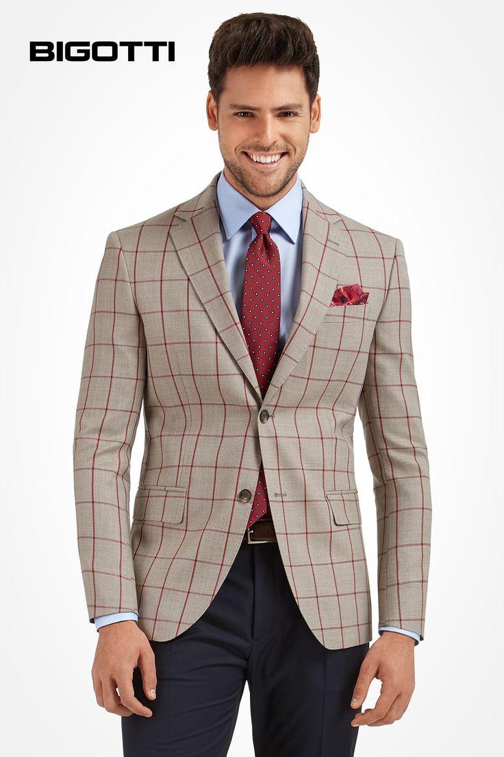 A #noticeable #pattern for a #modern #refined #appearance  www.bigotti.ro  #Bigottiromania #moda #barbati #sacouri #carouri #windowpane #mensfashion #mensstyle #mensclothing #blazers #jackets #checks #plaid