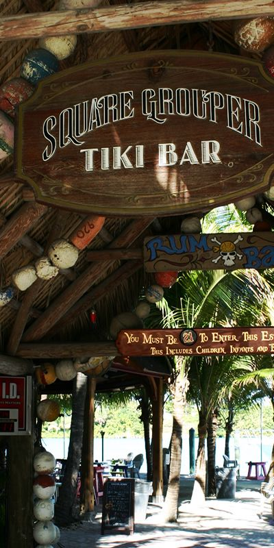 SQUARE GROUPER TIKI BAR - Is a Jupiter Florida waterfront bar and restaurant. It is a local hang out with amazing drinks and the most excellent waterfront location. For more info about this fine Jupiter FL bar and restaurant visit their website: http://squaregrouper.net #squaregrouper #jupiterfl #jupiterflorida