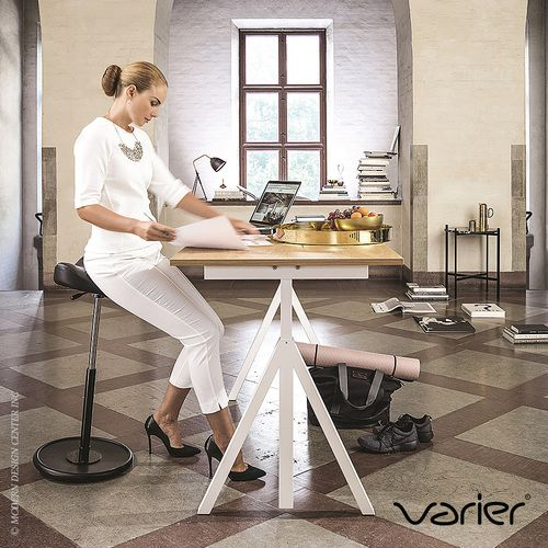 Truly intuitive, the Move #officechair #stool has a slightly rounded base, which tilts the chair in smooth, gentle movements. http://www.vincimed.com/varier-furniture-move-stool/
