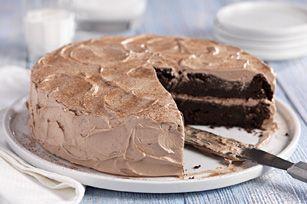 Chocolate-Zucchini Cake Recipe - Kraft Recipes - http://www.kraftrecipes.com/recipes/chocolate-zucchini-cake-144613.aspx