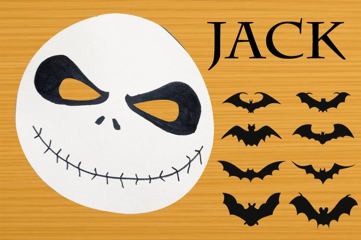 Maschera di Jack (Nightmare before Christmas)  di Party KIDS su DaWanda.com
