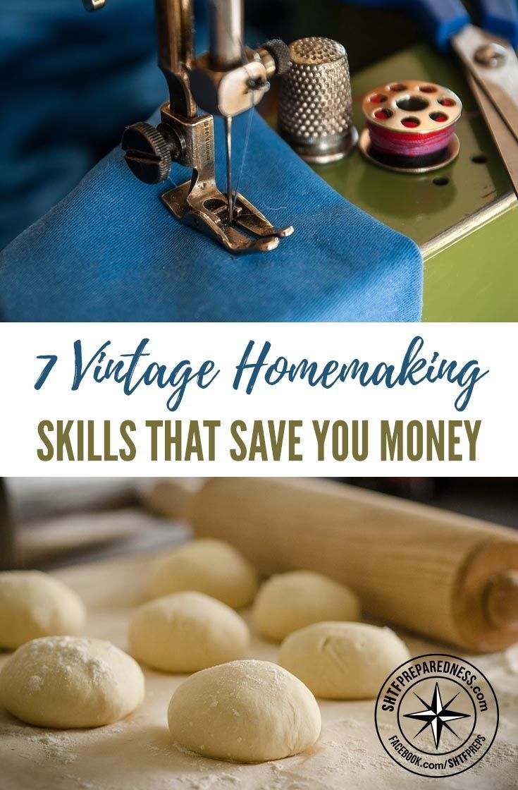 7 Vintage Homemaking Skills That Save You Money -- Without a doubt, technology has made housekeeping easier and more efficient for us. Unfortunately, that means a lot of housekeeping knowledge has been lost.