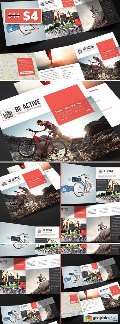 Be Active - Sport Trifold Brochure