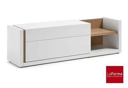 Mueble de TV Q170, importado,laca blanca