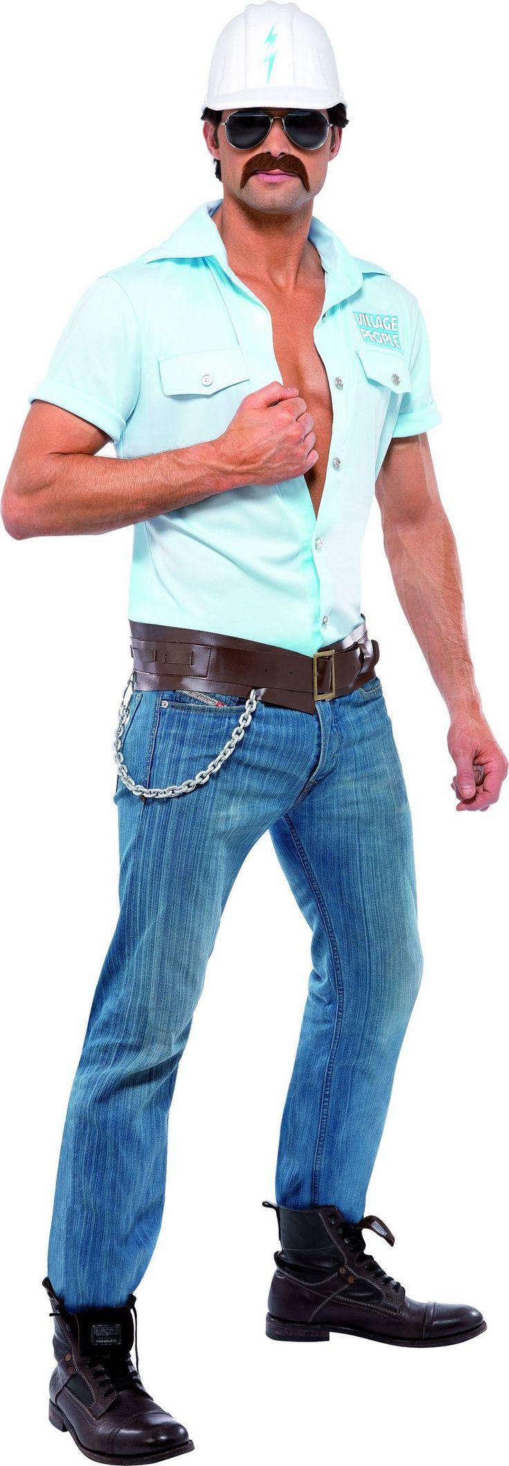 Kostuums Village People ™ werknemer: Dit officieel gelicenseerde Village People™ kostuumbevat een hemel blauw shirt, een witte helm, een bruine riem en een zonnebril (Snor, broek en schoenen niet inbegrepen). Dit kostuum is...