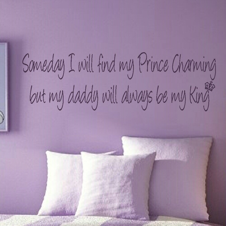 Prince Charming Girls Bedroom Quote Wall Stickers Wall Decals Large Wall Art Niq34