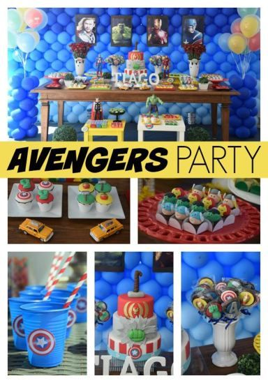 Awesome Avengers Birthday Party Ideas - Gabrielle would love!!!