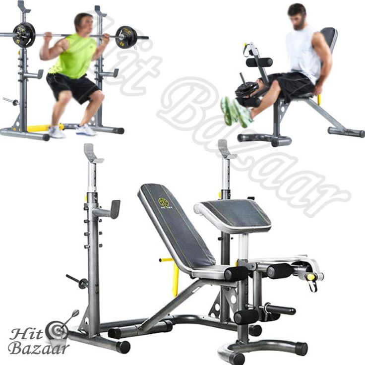 Olympic Workout Bench Home Gym Weight Lifting Squat Rack Preacher Curl  Equipment #ad